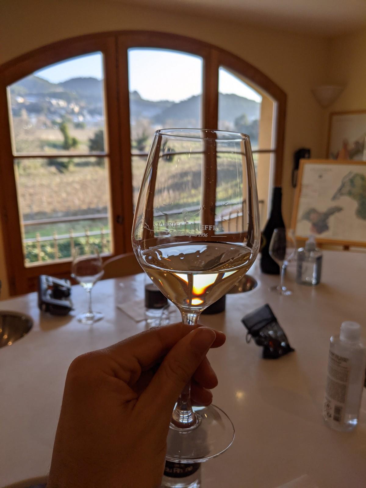 Dégustation de vin à Gigondas